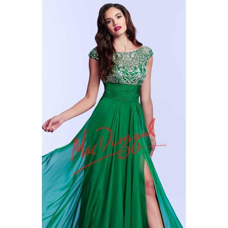 Wedding - Illusion Neckline by Mac Duggal Prom - Color Your Classy Wardrobe
