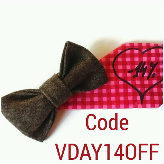 Valentines Day Gift Mens Bow Tie Brown Wool Bow Tie Husband Gift Gift For  Men Bow Tie For Men Boyfriend Gifts Gift Him Valentineu0027s Day Bnhy
