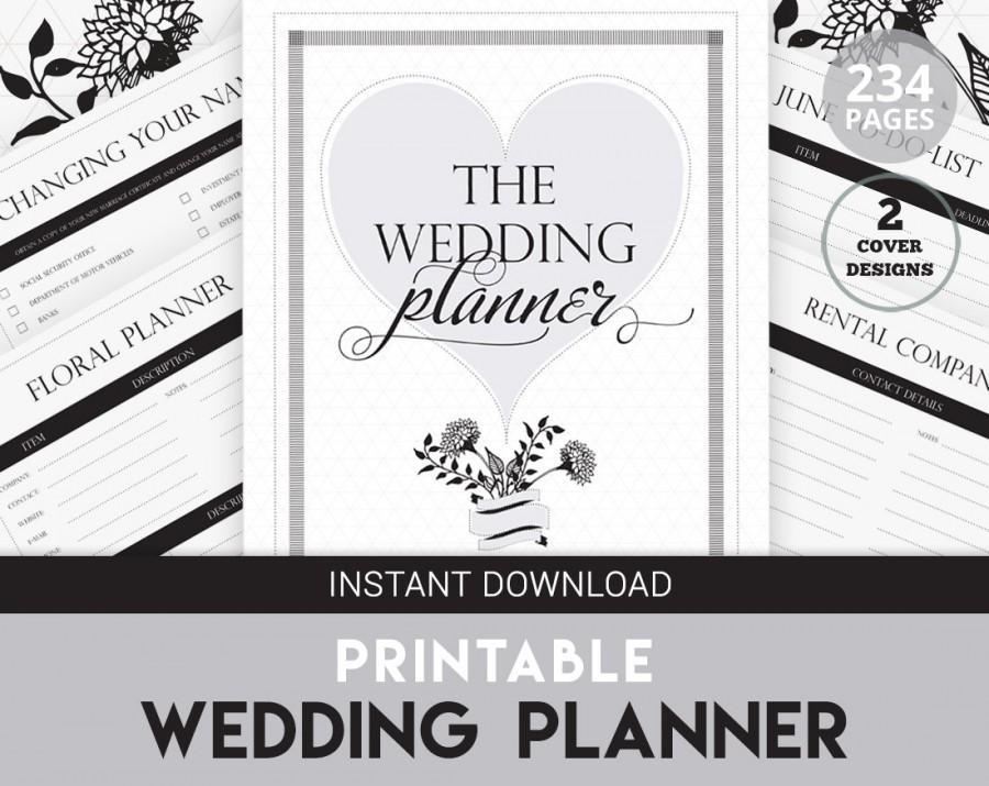 wedding planner printable diy wedding organizer printable