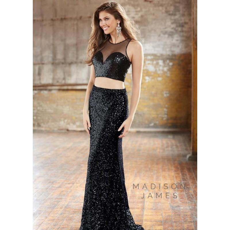 Wedding - Madison James 15-133 Sequin Illusion 2 Piece Gown - 2017 Spring Trends Dresses