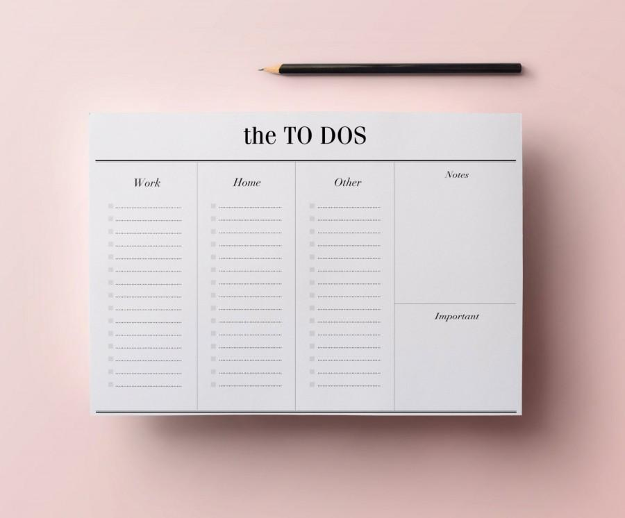 Wedding - To Do List Planner Printable - A4 Work Planner, Minimalist Desk Planner - Digital File, Daily List Organizer, INSTANT DOWNLOAD