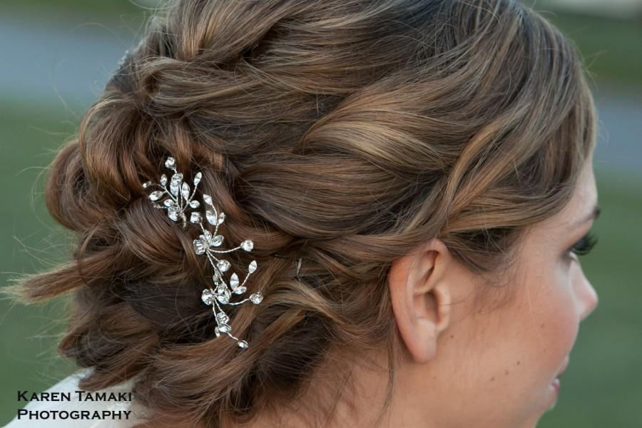 Свадьба - Bridal Hair Pin Set, Crystal Vine Hair Pins, Wedding Hair Piece, Crystal Headpiece, Bridal Jewelry, Ready to Ship