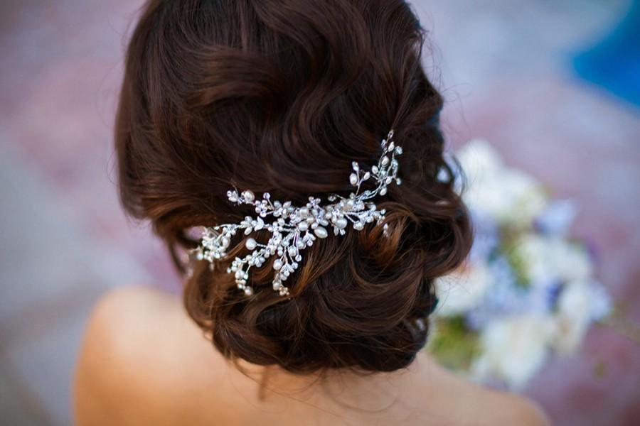 Свадьба - Pearl Hair Comb, Bridal Hair Accessory, Wedding Headpiece, Pearl Comb, Wedding Hair Comb