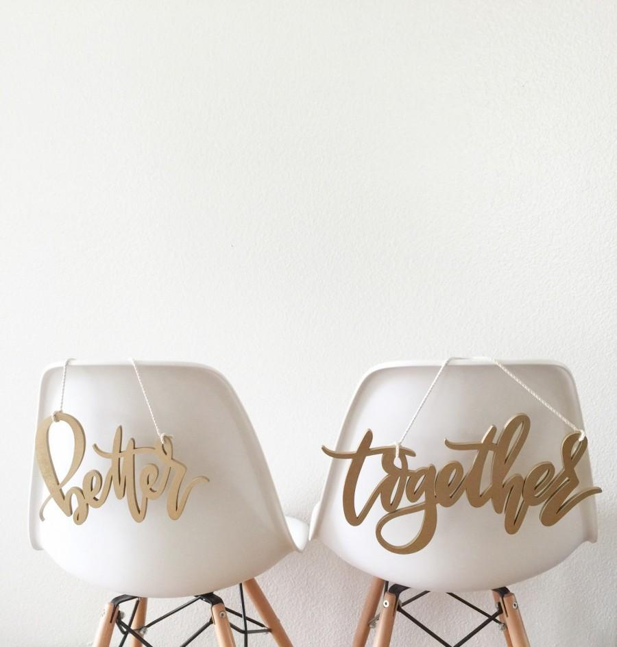 Mariage - Better Together Chair Backs