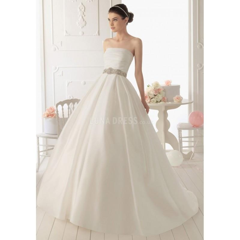 زفاف - Ball Gown Strapless Organza Floor Length Court Train Wedding Dress With Sash/ Ribbon - Compelling Wedding Dresses