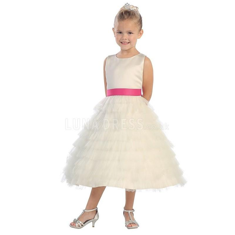Mariage - Tulle & Satin Jewel Pleated A line Short Flower Girl Dresses - Compelling Wedding Dresses