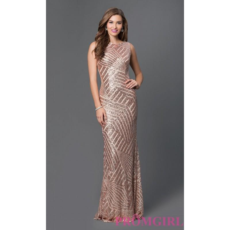 2852298e02 Long Sequin Open Back Prom Dress from JVN by Jovani - Discount Evening  Dresses