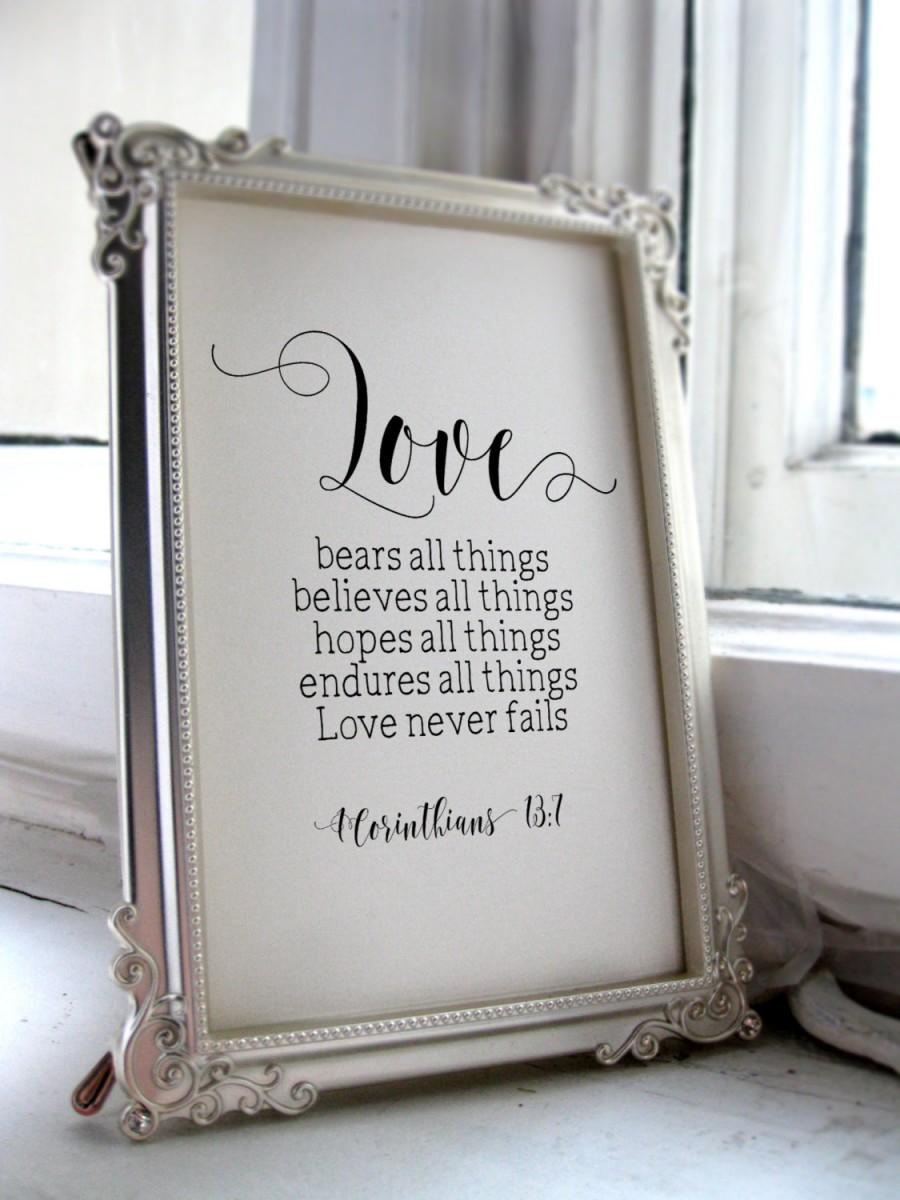 Wedding Quotes For The Bride And Groom, 1 Corinthians 13:7 ...