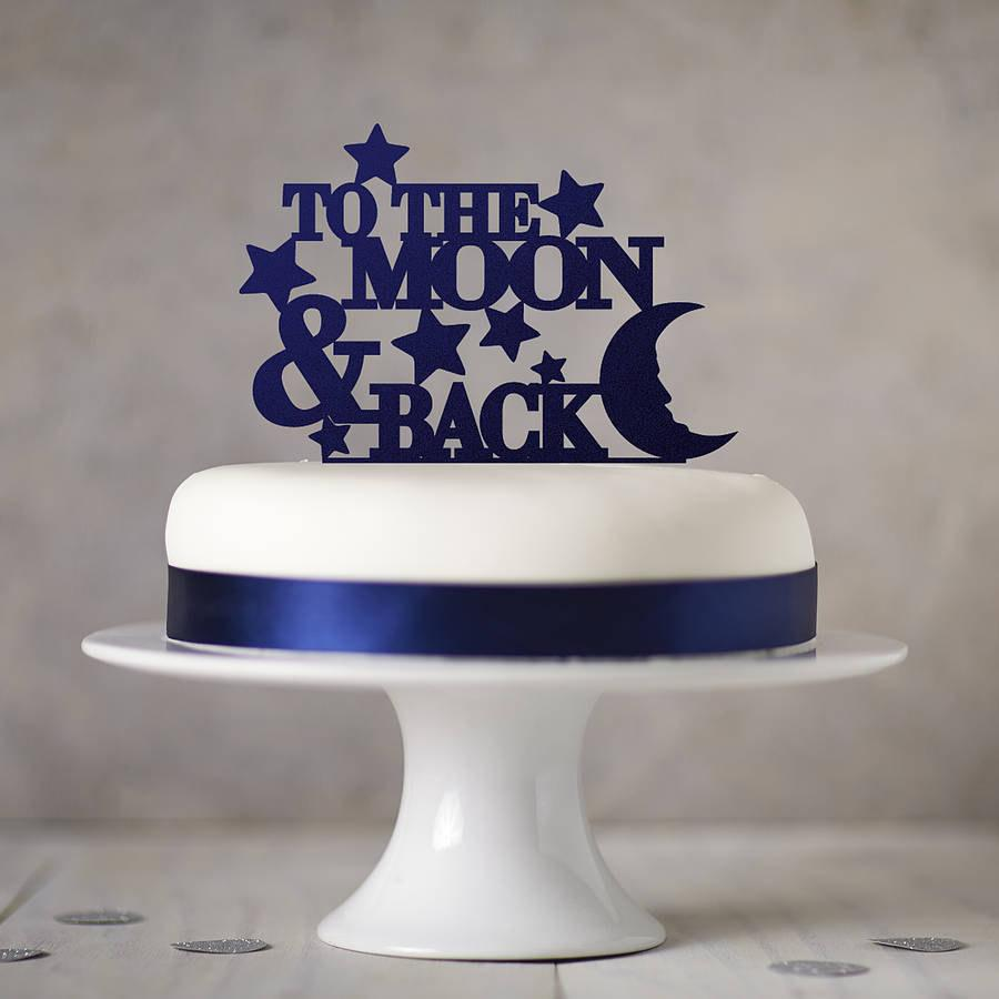 Свадьба - To The Moon And Back Cake Topper