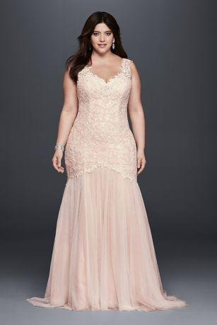 Wedding - Plus Size Beaded Trumpet Wedding Dress Style 4XL9SWG723