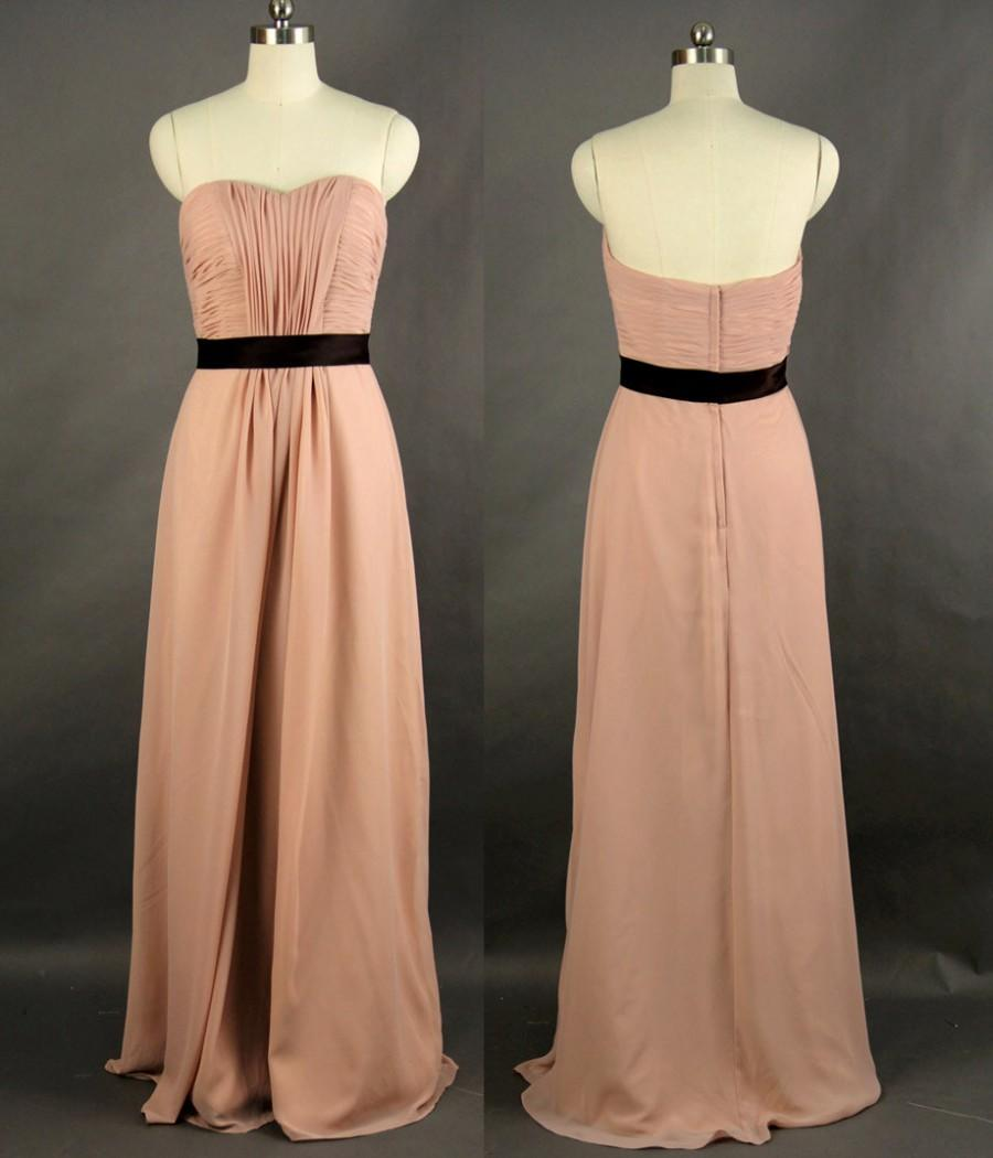 Hochzeit - Long Bridesmaid Dress, A-line Sweetheart Floor-length Chiffon Bridesmaid Dress, New Style, Finished on Oct.16