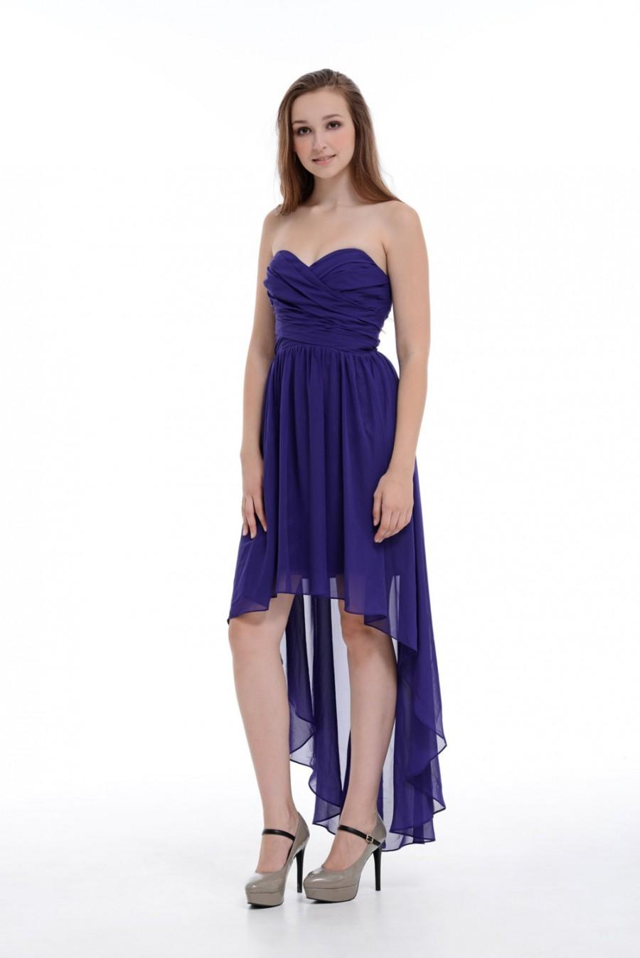 A-line Sweetheart Asymmetrical Chiffon Bridesmaid Dress/Homecoming ...