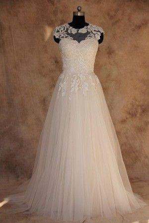 Mariage - Style BA14 – Illusion Neckline Plus Size Wedding Gown
