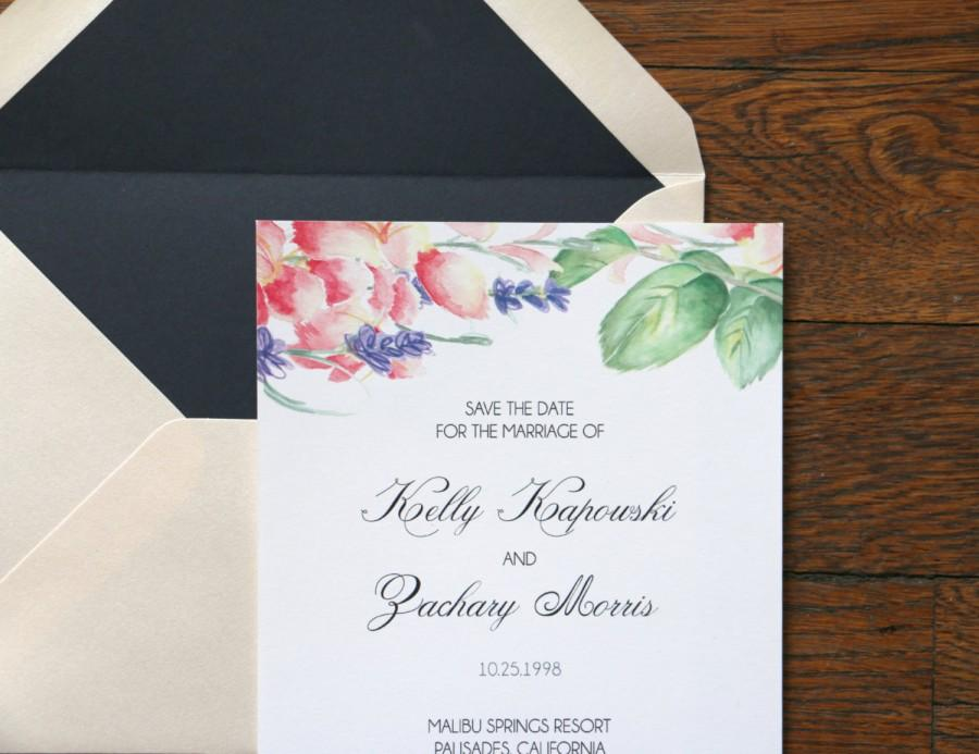 Wedding - Customized Watercolor Save the Date Deposit
