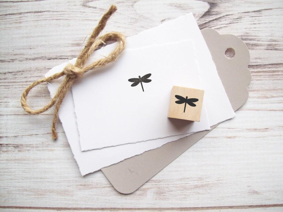 Wedding - Mini Dragonfly Rubber Stamp 3/4 inch