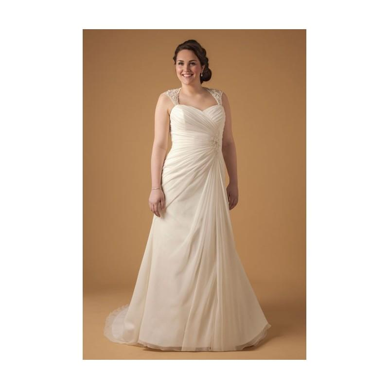 aa66340921a Dina Davos for Kleinfeld - Style 7852W Plus-Size Wedding Dress - Stunning  Cheap Wedding Dresses