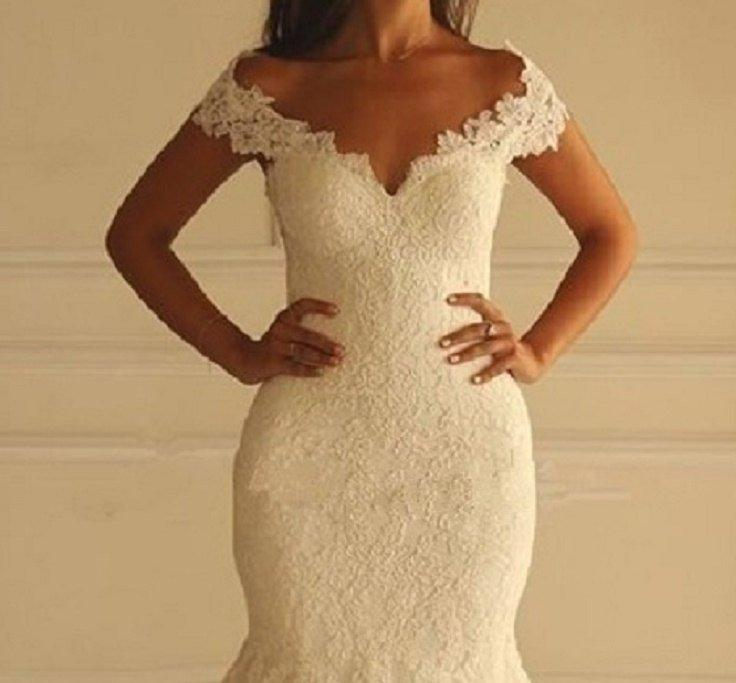 Mariage - Princess Lace Mermaid Wedding Dress, Beach Wedding Dress