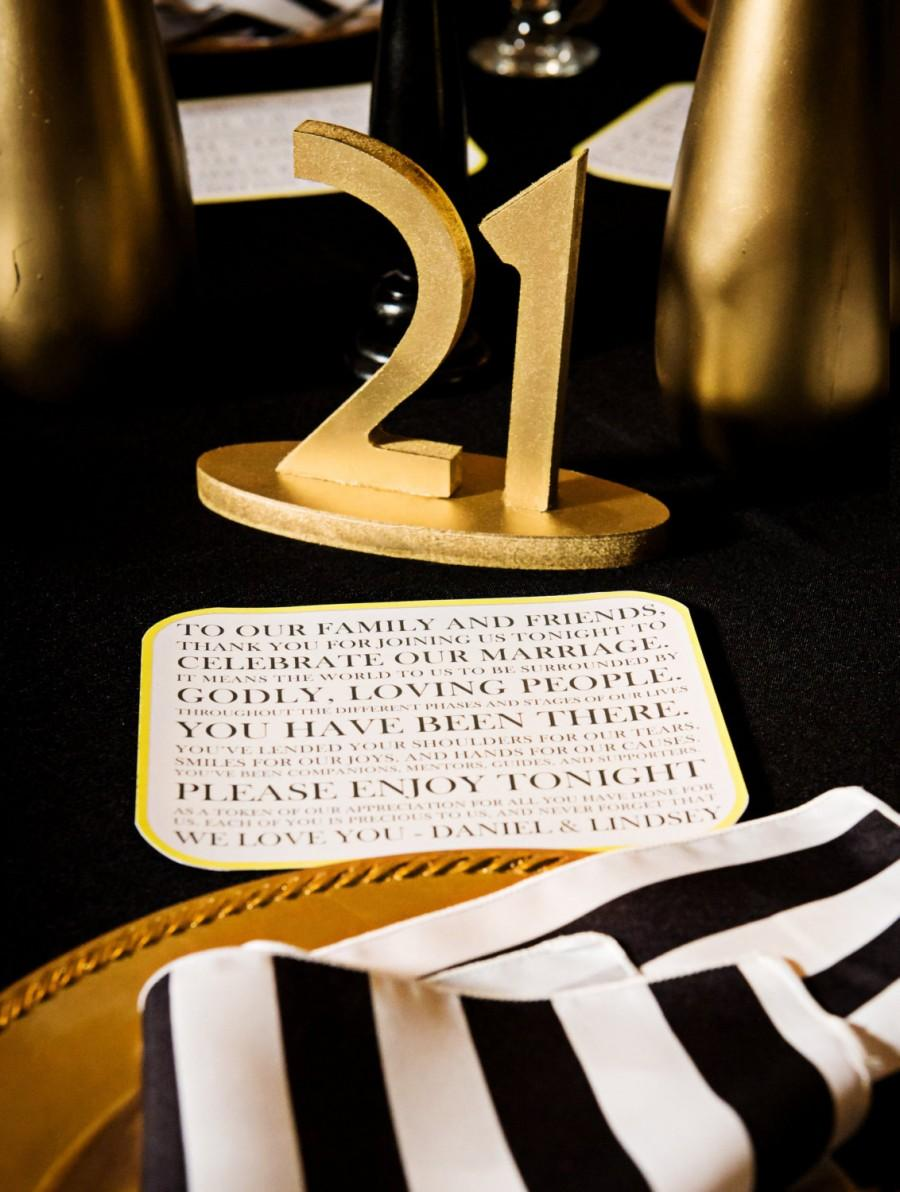 Wedding - Gold Great Gatsby Table Numbers for Weddings & Events, Vintage Wedding Decor for Wedding Table Numbers, Art Deco Wedding (Item - NUM110)