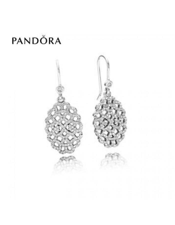 Mariage - Bijoux Pandora Soldes 2016 * Pandora Shimmering Lace Earrings disponibles