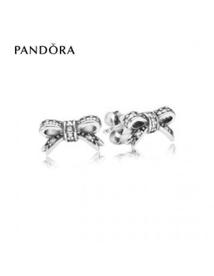 Mariage - pandora Magasin - Bijoux Pandora Soldes 2016 * Pandora Sparkling Bow Earring Studs