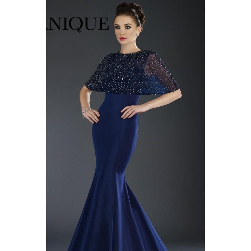 Свадьба - Navy Beaded Mermaid Gownby Janique - Color Your Classy Wardrobe