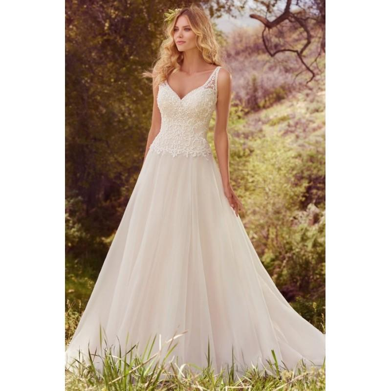 Boda - Style Krisha by Maggie Sottero - Floor length OrganzaTulle Ballgown V-neck Sleeveless Dress - 2017 Unique Wedding Shop