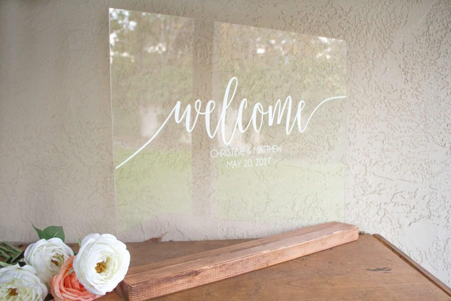 Свадьба - Wedding Welcome Sign - Acrylic Wedding Sign - Large Wedding Sign - Welcome Wedding Sign - Acrylic Welcome Sign - Wedding Welcome Signs