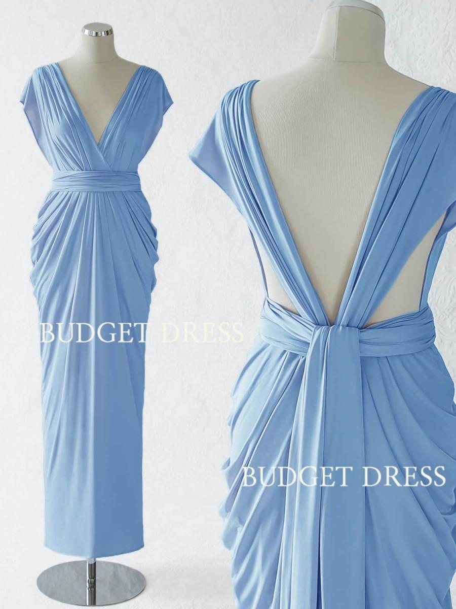 2017 NEW STYLE Cornflower Blue Convertible Dress, Maxi Convertible ...