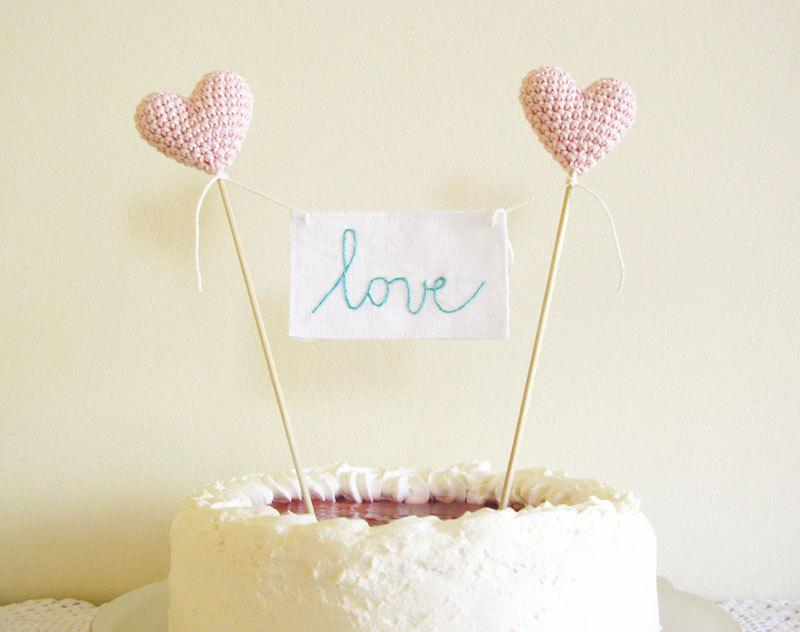 Mariage - Wedding Cake Topper, Love Cake Topper, Love Sign Cake Topper, Pink Wedding Decor