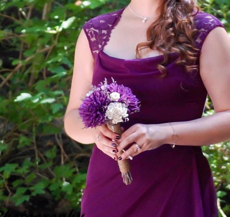 Свадьба - Romantic Purple Dahlia Bouquet