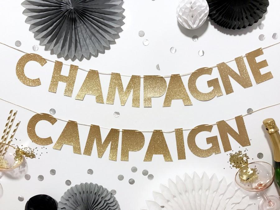 Свадьба - Champagne Campaign Banner
