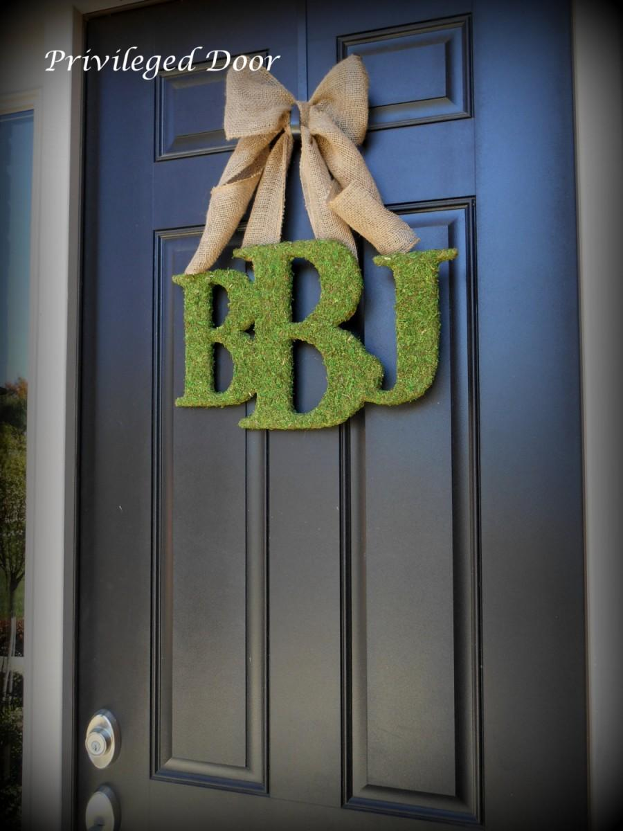 Свадьба - Monogram Wreath. Letter Wreath.  Initial Wreath.  Welcome Guests in High Style.