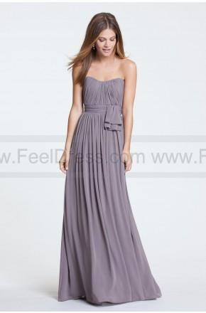 Wedding - Floor-length Crinkle Chiffon sheath dress with crisscross empire bodice and shirred, one-shoulder strap. Chiffon