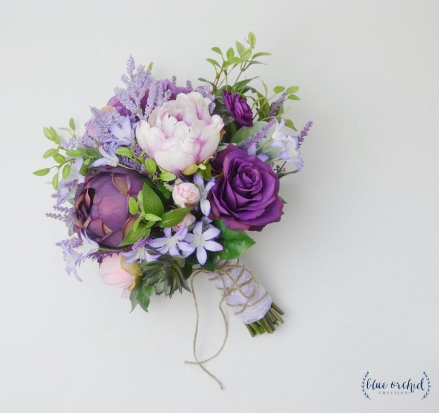 Boho Bouquet, Purple, Lavender, Wildflower Bouquet, Light Purple ...