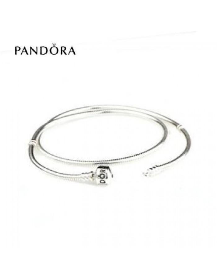 زفاف - Pandora Collier Prix * Pandora Clasp Sterling Silver Charm Collier pour filles discount à Des Prix Ourlé