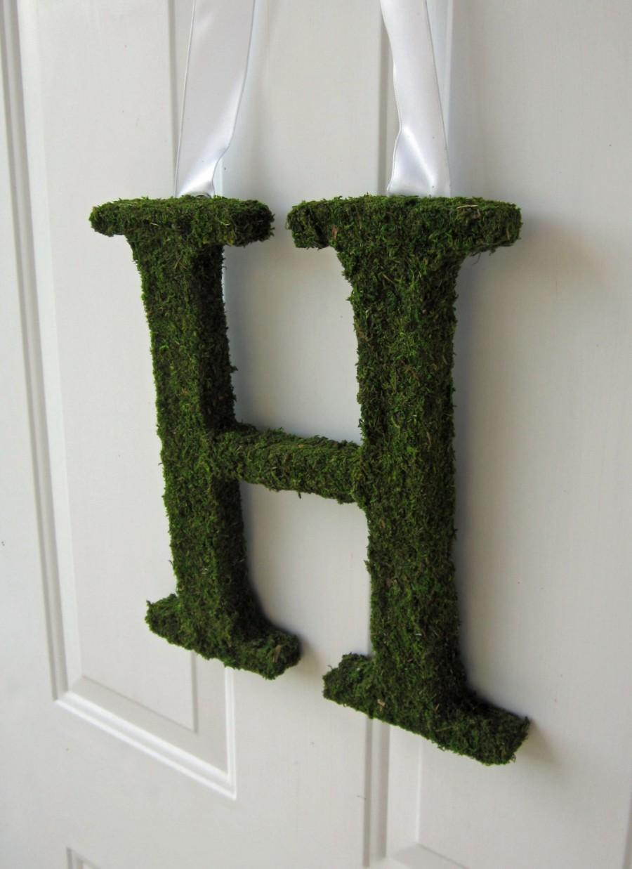 Свадьба - Moss Covered Letter - Moss Covered Letter Wedding Monogram ( 12 inches )
