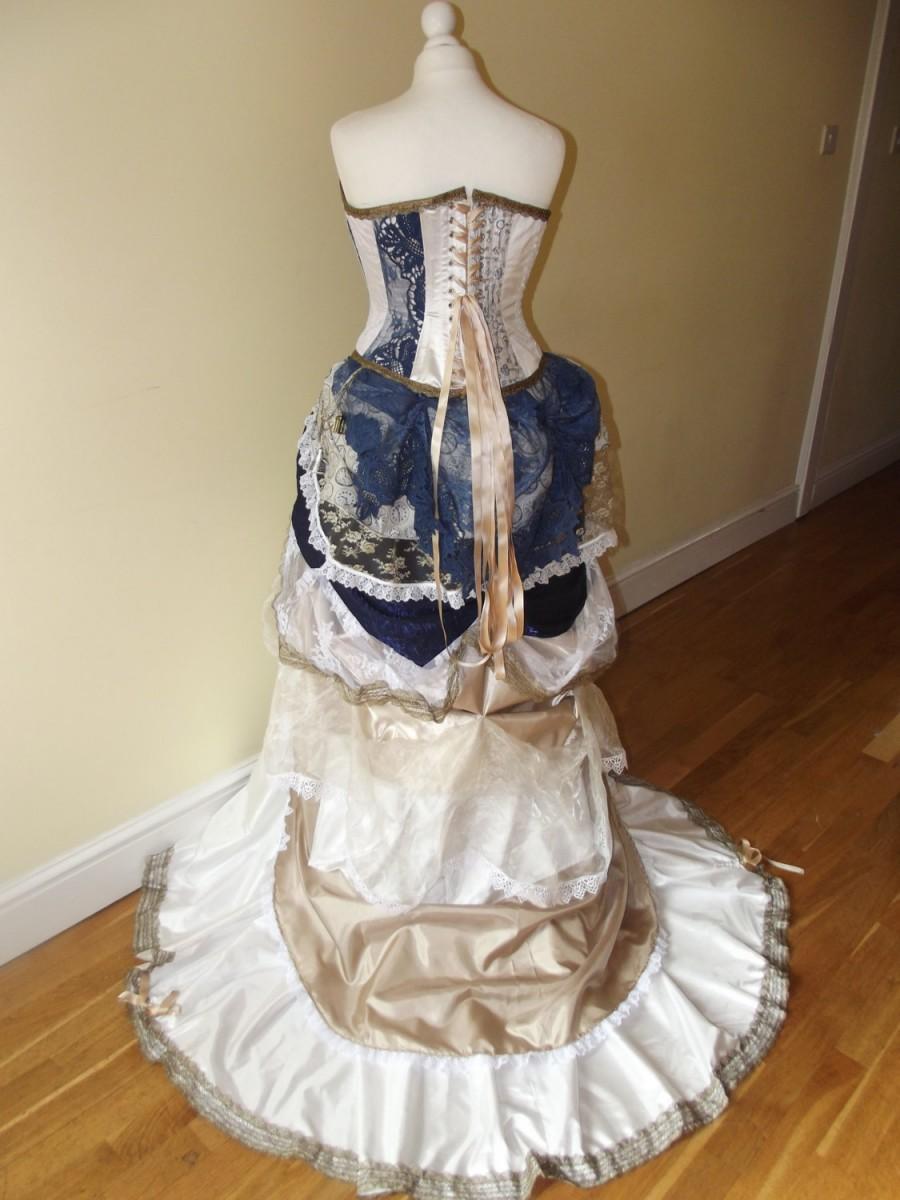Custom theme steampunk victorian wedding dress prom for Steampunk corset wedding dress