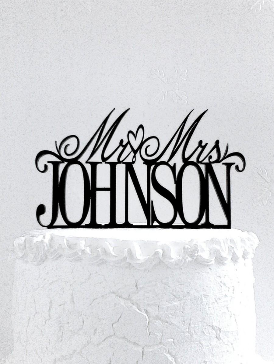 Mariage - Mr and Mrs Johnson Wedding Cake Topper