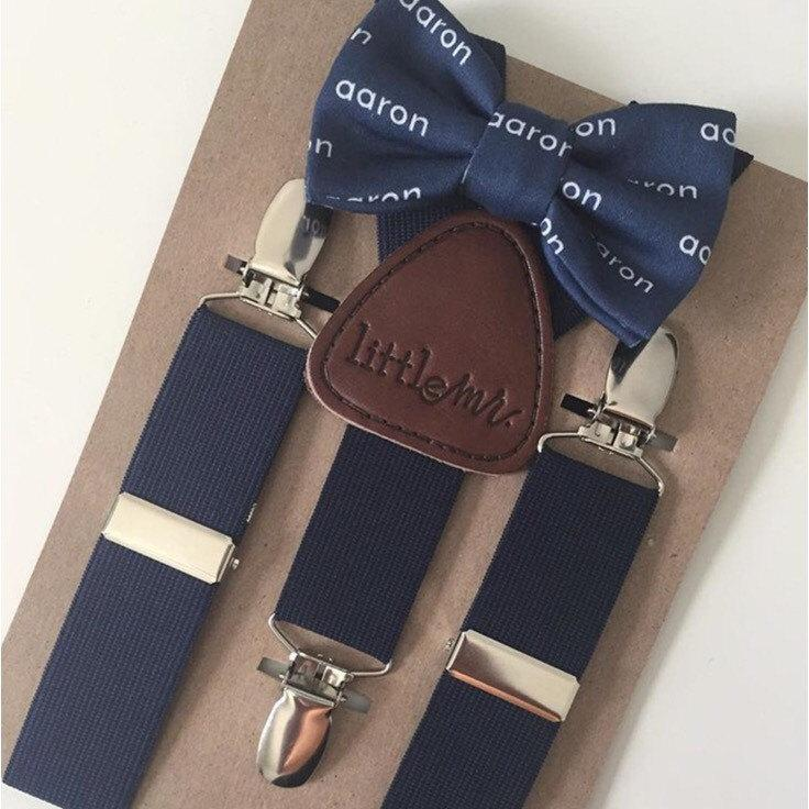 Mariage - Bow Tie and Suspenders Custom Bow Tie with Suspenders