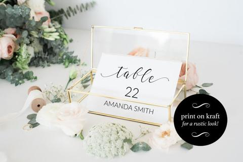 graphic relating to Free Printable Wedding Place Cards referred to as Totally free Printable Wedding ceremony Area Card Template #2648327 - Weddbook