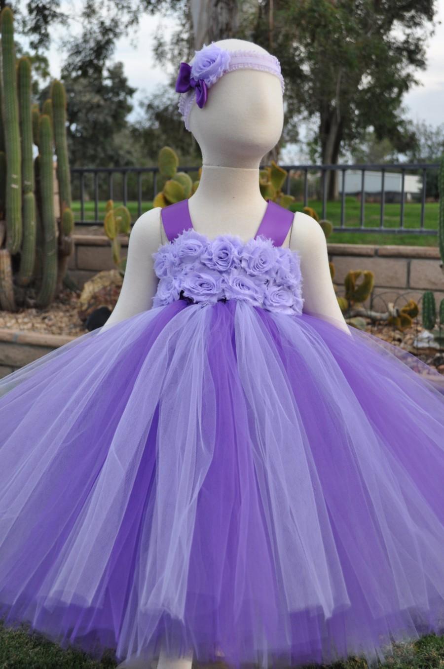 زفاف - Purple Lilac Flower Girl Dress, Lavender Flower Girl Dress, Purple Lilac Toddler Dress, Lilac Infant Dress, Lavender Baby Dress