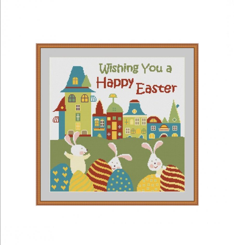 زفاف - Easter cross stitch, Easter cross stitch pattern, Easter Bunny, Easter Rabbit, Easter Eggs, Easter pattern, Easter digital, Easter kids, PDF