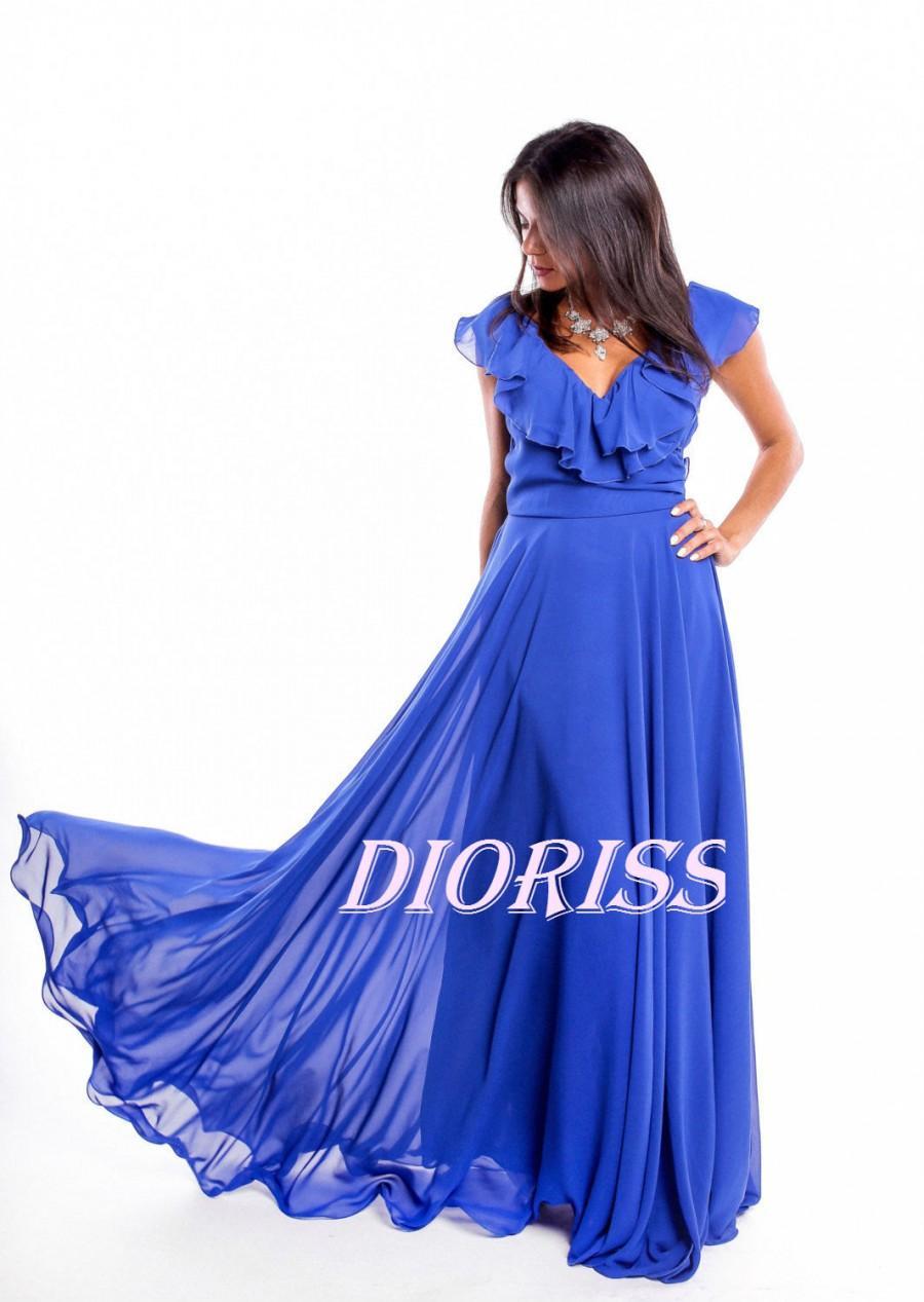 زفاف - Royal Blue Formal Floor Length Dress  Woman.Wedding Royal BlueDress Bridesmaid.Graduation Dress,Lace Bridesmaid Dress,Prom Dresses
