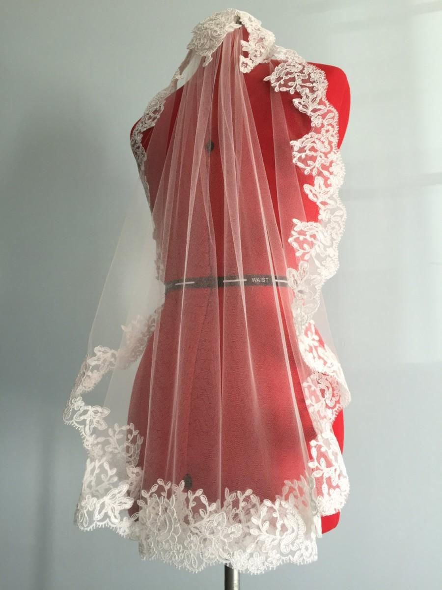 Champagne cap wedding veil custom wedding veil headband for Veil for champagne wedding dress