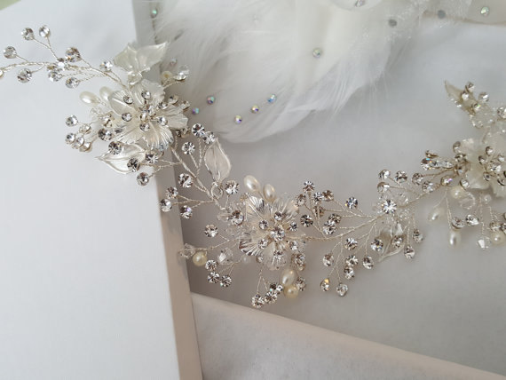 Mariage - Wedding Hair Vine, Silver Bridal Head Piece, Gold Bridal Hair Accessory, Hair Vine, Bridal Accessories