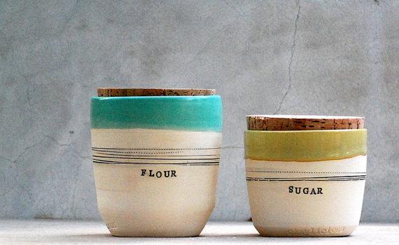 Kitchen Wedding Gifts: Stoneware Kitchen Canisters