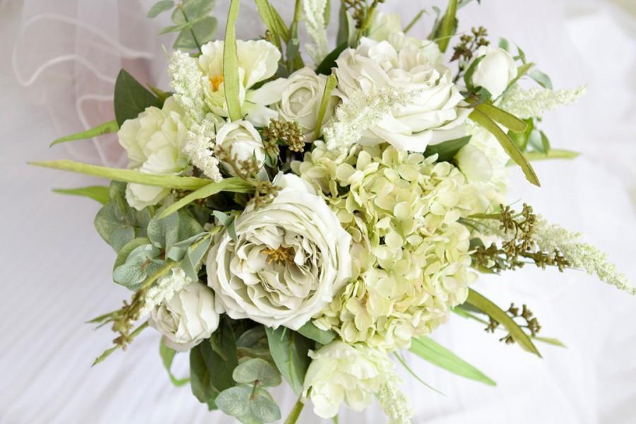 Свадьба - Green Wedding Bouquet, Mint Bouquet, Spring Bouquet, Green Wedding, Natural Bouquet, Wedding Flowers, Succulent Bouquet