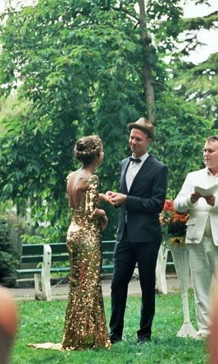 Wedding - Sequin wedding gown-