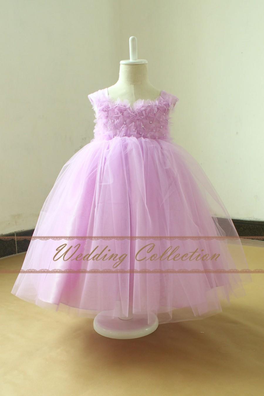 Wedding - Light Purple Flower Girl Dress