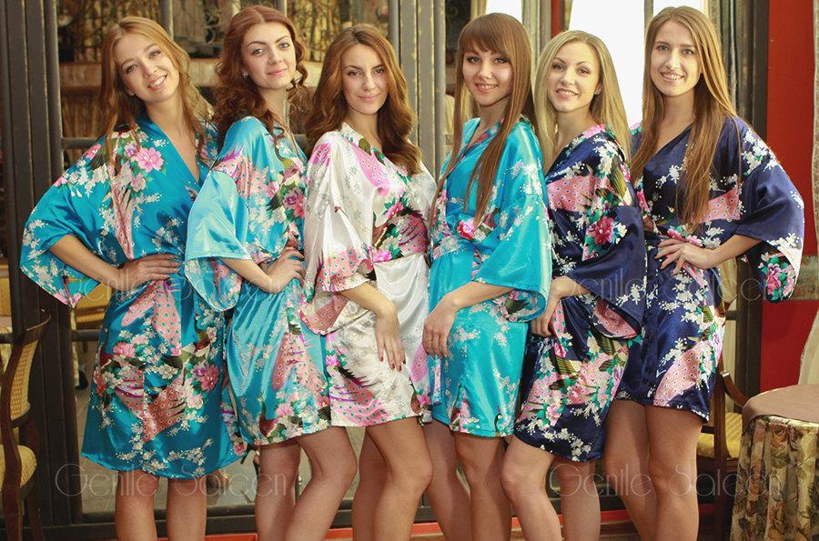 Bridesmaid Robes, Set Of 4 Robes, Wedding Robe, Bridesmaid Gifts ...